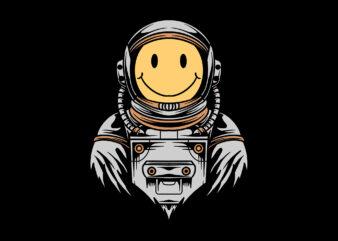 smile face astronaut