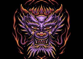 The dragon tshirt design
