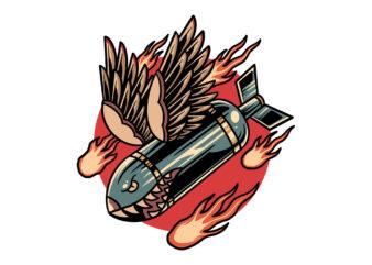 winged rocket