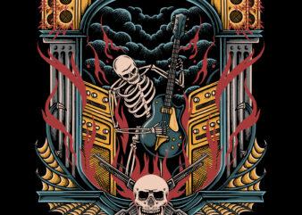 Music vibes illustration design for t-shirt