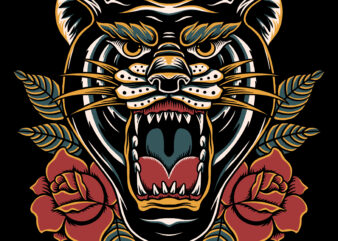Panther vector illustration for t-shirt