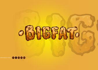 Bigfat Typeface Biscuit Hand Drawn