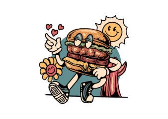 chill burger cartoon