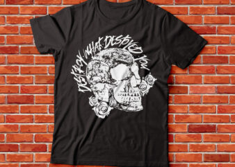 destroy what destroyed you skull rose tee design | streetwear design