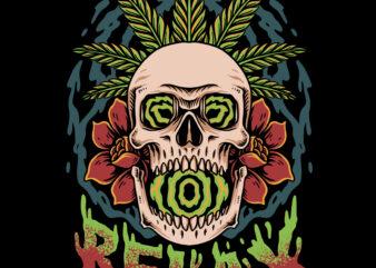 Relax skull t-shirt design