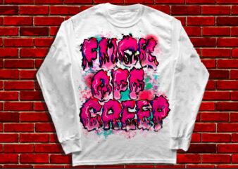 f2ck off creep streetwear style tee design