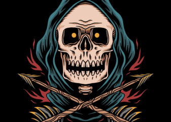 The hunter illustration for t-shirt design