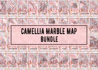 Camellia Marble Map Bundle