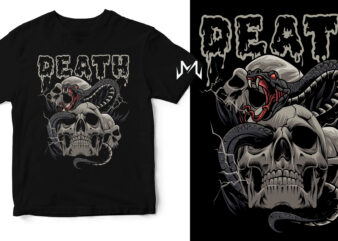 death (snake and skull)