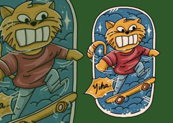 Catsboarder funny t-shirt design