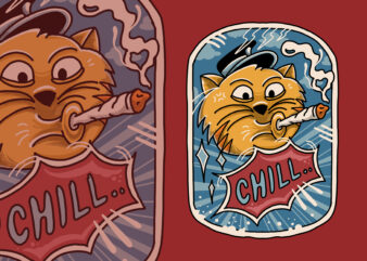Chill cats funny t-shirt design