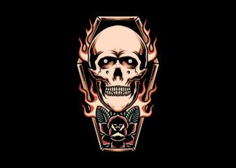 coffin skull