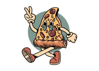 peace pizza cartoon