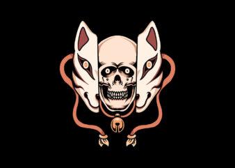 skull kitsune