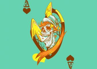 Ace of hearts t shirt vector