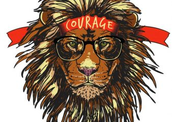 Courage vector t-shirt design for commercial use