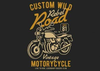 Custom Wild vector t-shirt design