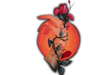 Eden's roses vector clipart