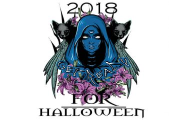 Get ready for halloween buy t shirt design for commercial use