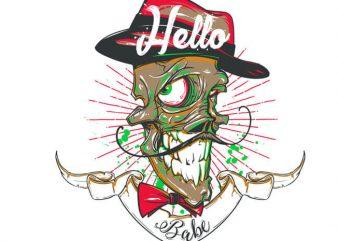 Hello babe! graphic t shirt