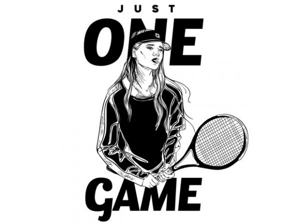 Just one game vector clipart