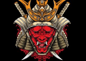 Oni Samurai commercial use t-shirt design