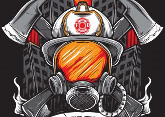 FIREFIGHTER buy t shirt design for commercial use