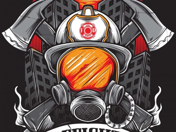 firefighter 600x450 - FIREFIGHTER buy t shirt design