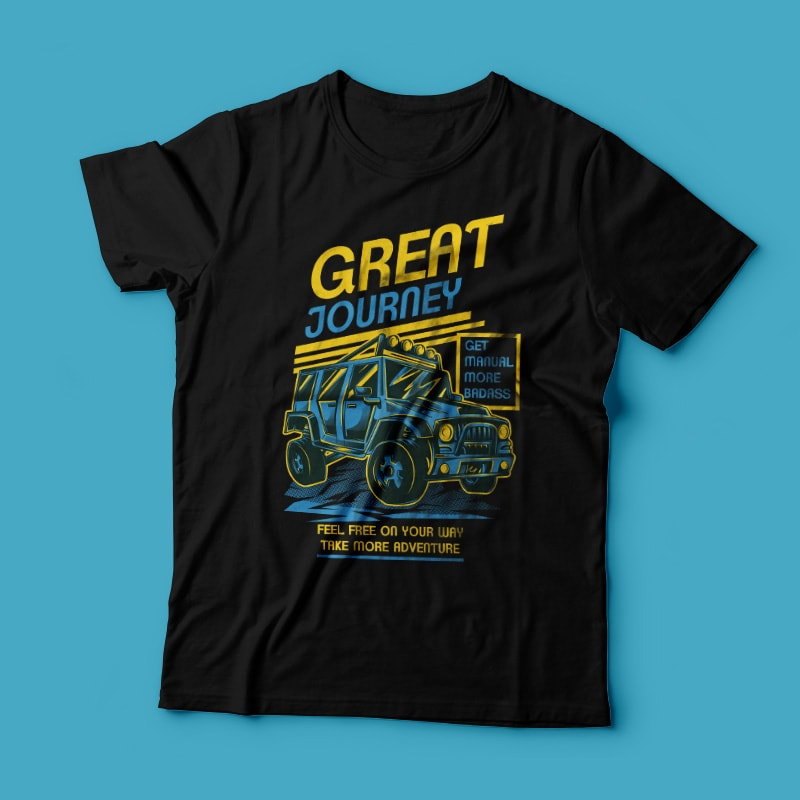 Great Journey vector t shirt design