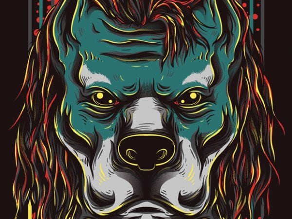 Handsome Pitbull vector t-shirt design for commercial use