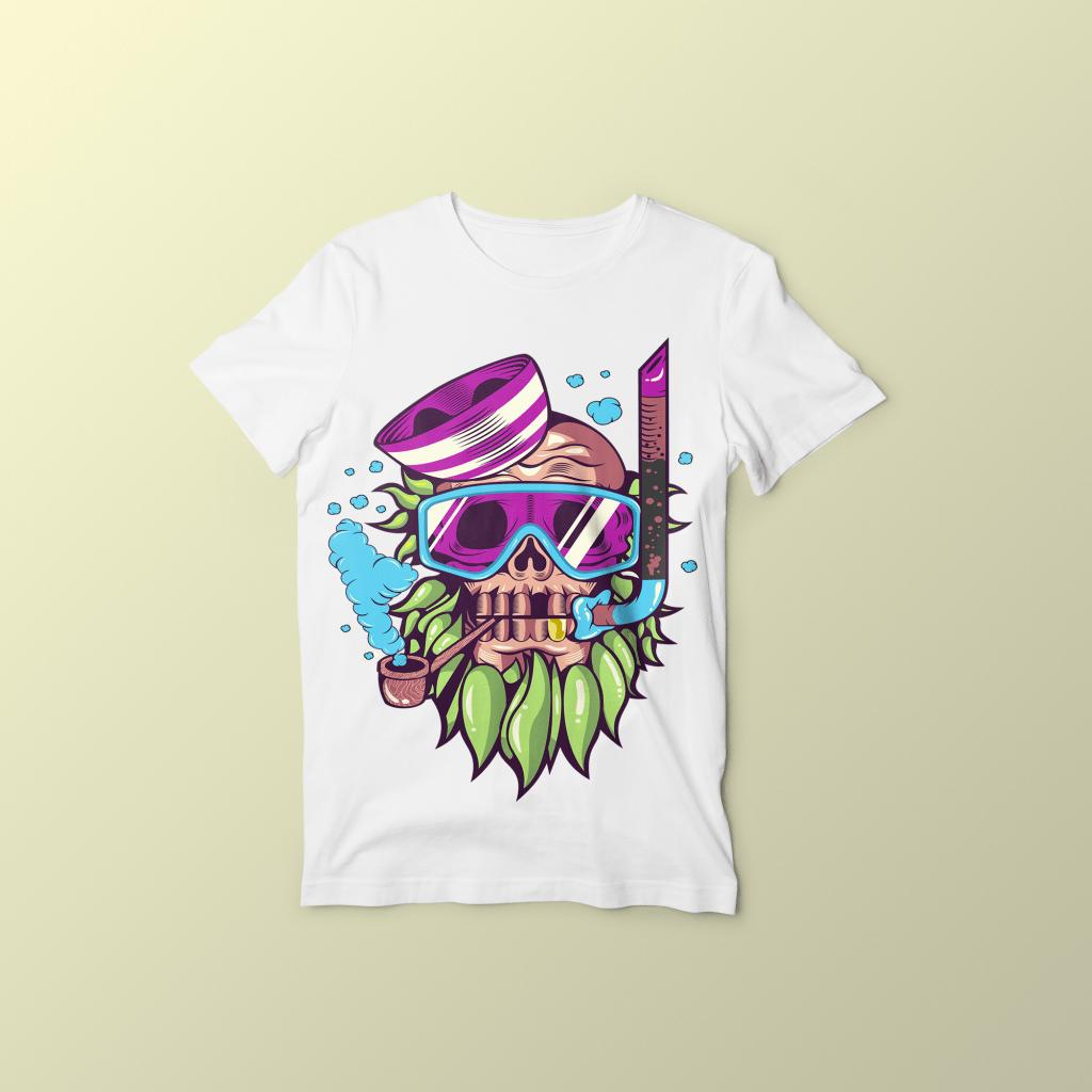 Skull snorkle buy t shirt designs for Buy t shirt designs online