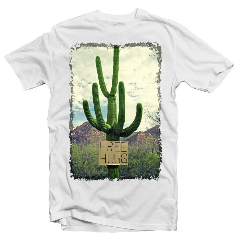 Free Hugs commercial use t shirt designs