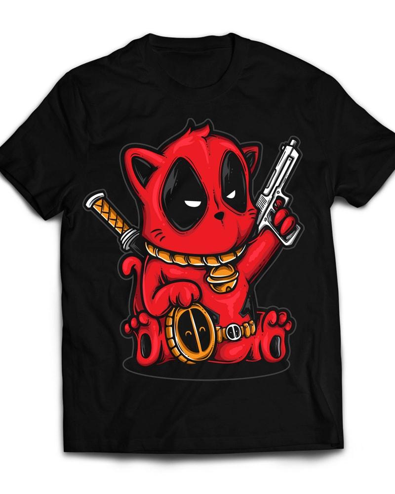 Kittypool t shirt designs for sale