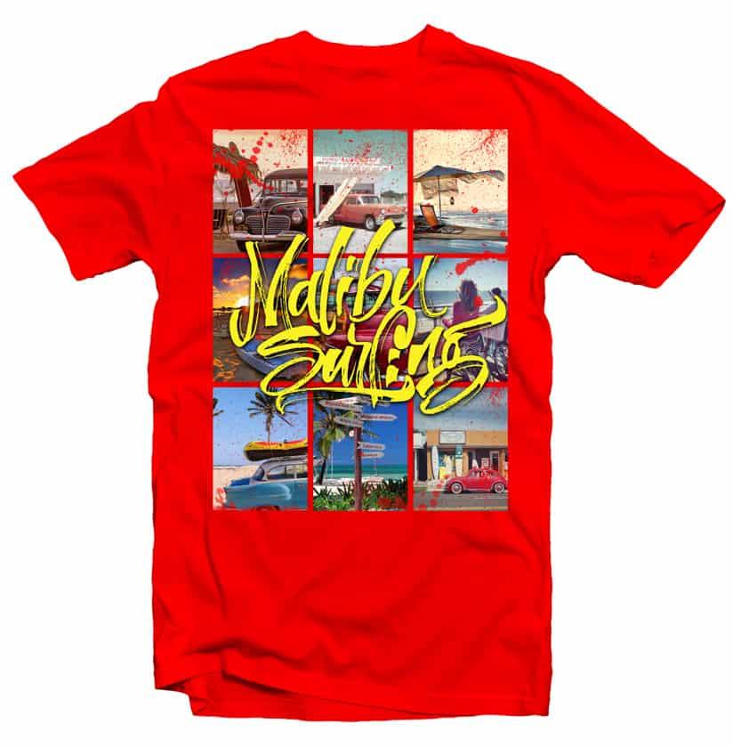 Malibu Surf T Shirt Design