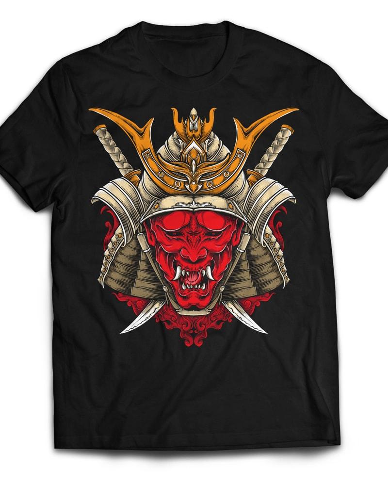 Oni Samurai t shirt designs for teespring