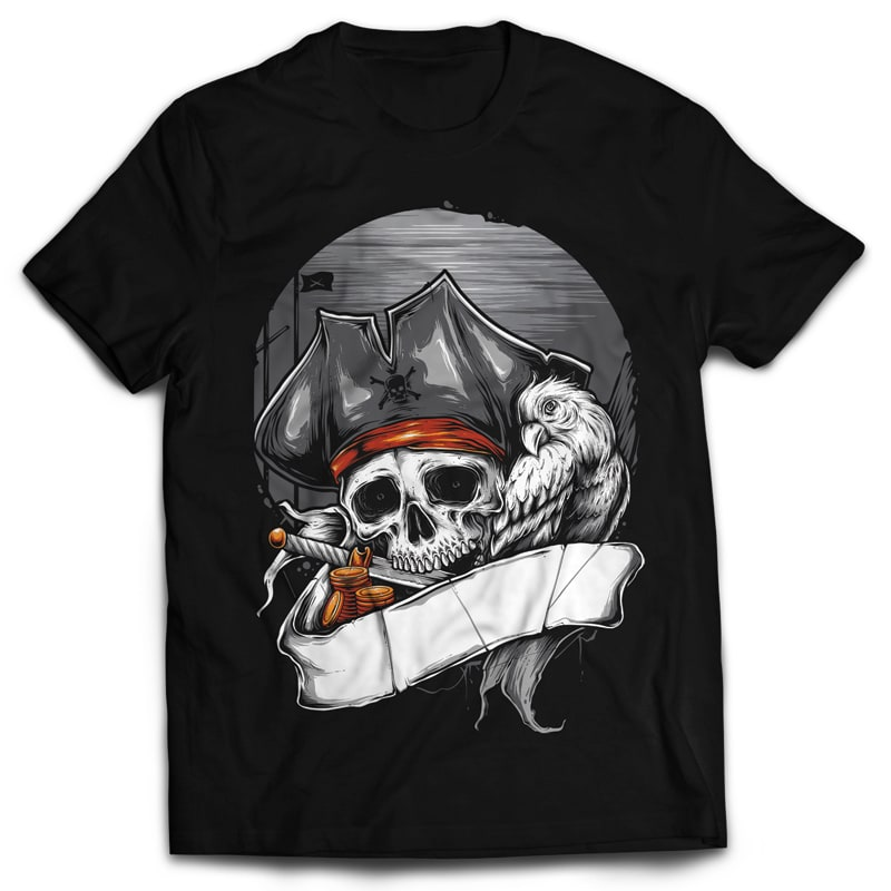 PIRATE commercial use t shirt designs