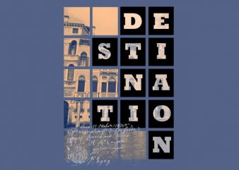 Destination graphic t-shirt design