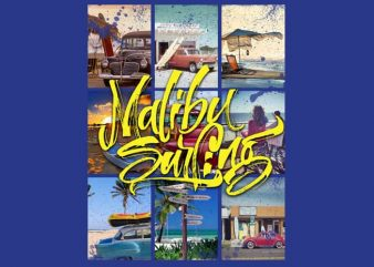 Malibu Surf t shirt designs for sale