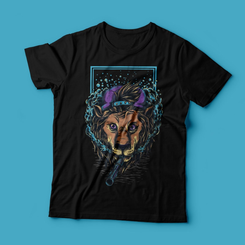 Naugthy Lion t shirt designs for teespring