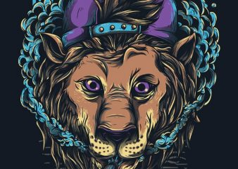 Naugthy Lion vector t shirt design artwork