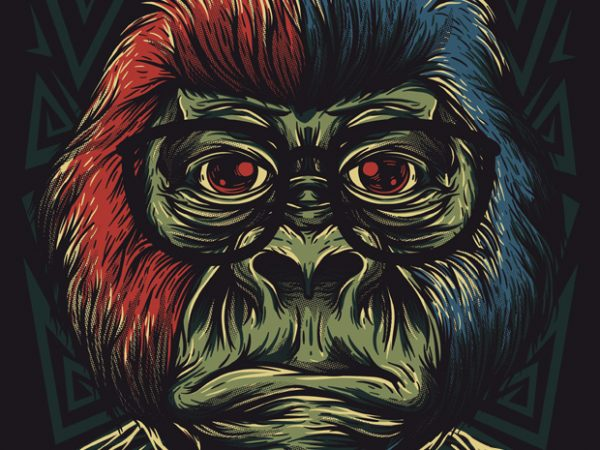 nerd monkey 600x450 - Nerd Monkey buy t shirt design