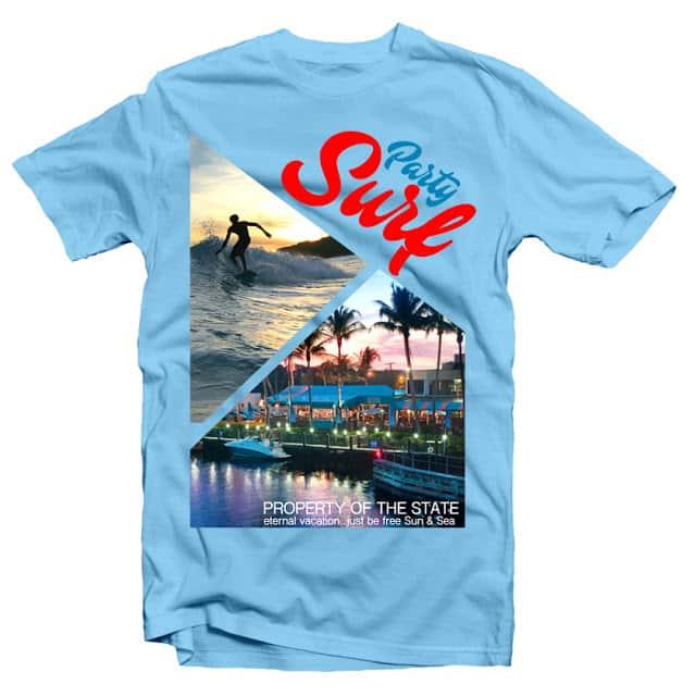 Surf Party t shirt design png