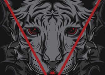 Resurgence Tiger tshirt design vector