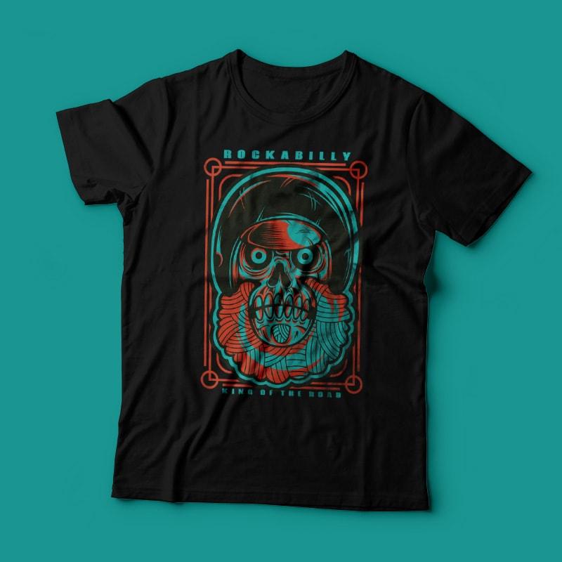 Rockabilly skull buy t shirt designs for Buy t shirt designs online
