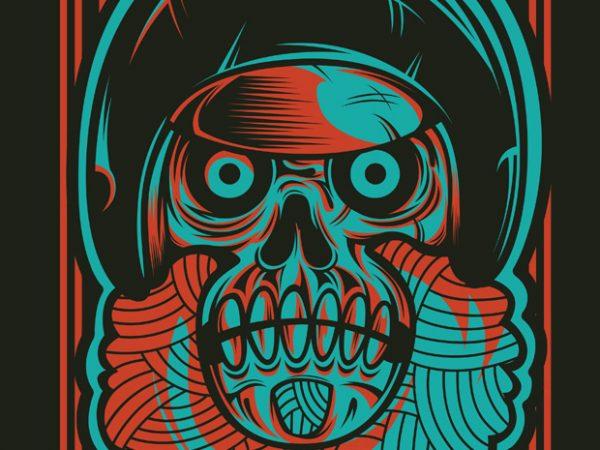 Rockabilly Skull t shirt design online