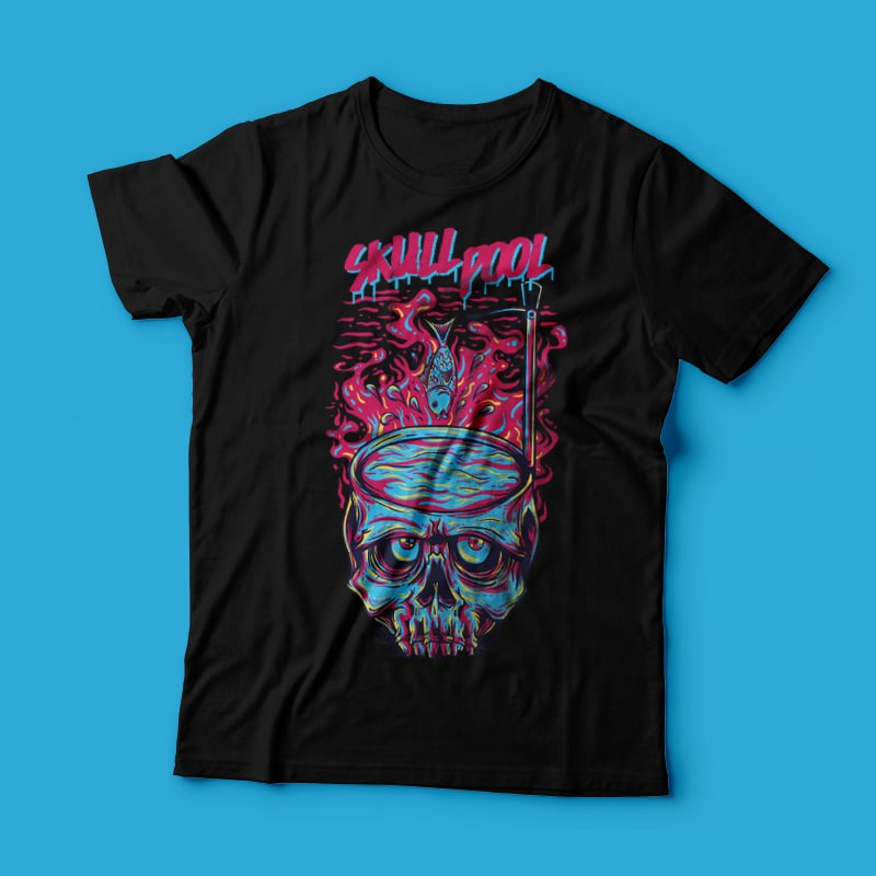 Skull Pool t shirt designs for teespring