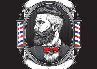 BARBERSHOP tshirt design for sale